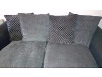 grey 3 and 2 seater sofa