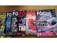 10 x used focus science and technology magazines retail at 3.99 each when new.