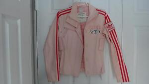 Adidas womens Pink Denim racing jacket