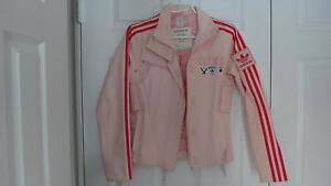 Adidas womens Pink Denim racing jacket Cambridge Kitchener Area image 1