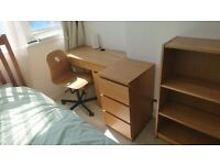 IKEA Wood Effect Desk and Chair