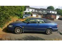 Blue 1998 Saab 9.3 convertible auto