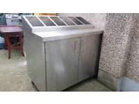 Stainless steel catering kitchen unit