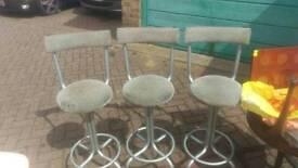 Leather soft stools