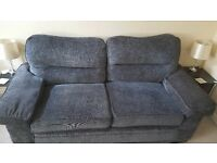 Large 2 seater couch with Armchair and pouffe