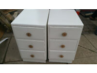 2 sets of 3 drawers
