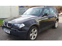 2004 54 BMW X3 2.0D SE BLACK MOT 04/17(PART EX WELCOME)