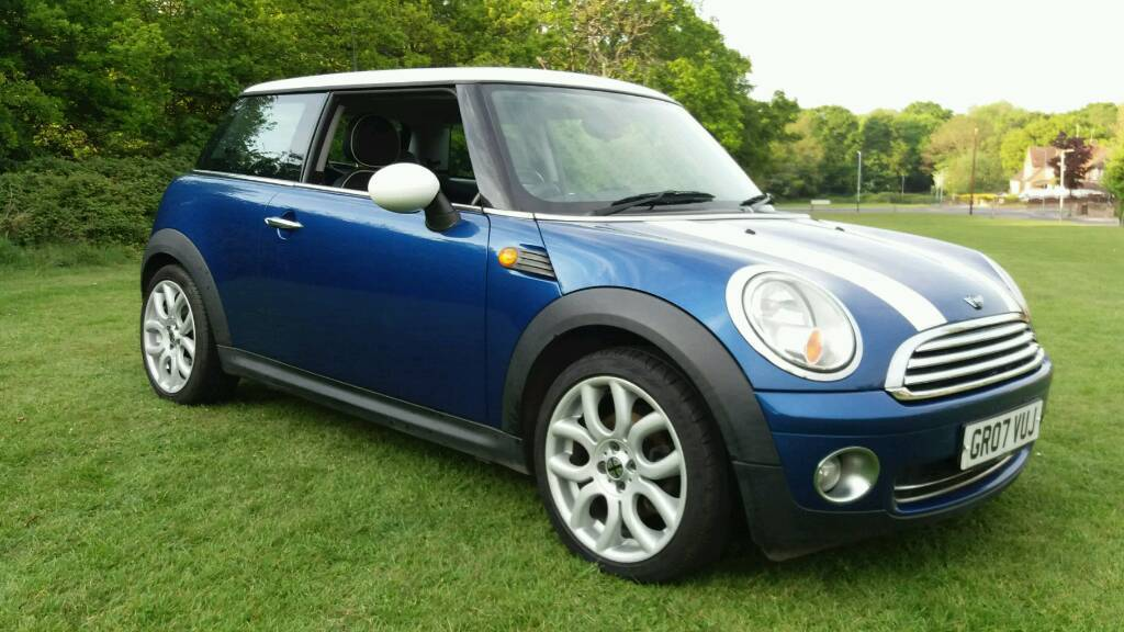 2007 Mini Cooper Blue  White Leather Interior Mot Feb 2018 Px Considered