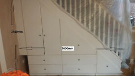Under stairs wardrobe/ shelving unit/ storage