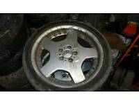 """Mercedes 18"""" Alloys with good tyres. 255/35/ZR18"""