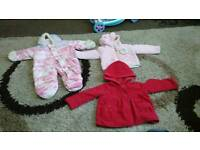 9-12,6-12 and 12 months girls thick winter coat bundle.