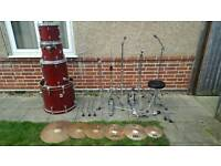 Sonor force 2005 drum kit with Zildjian cymbals
