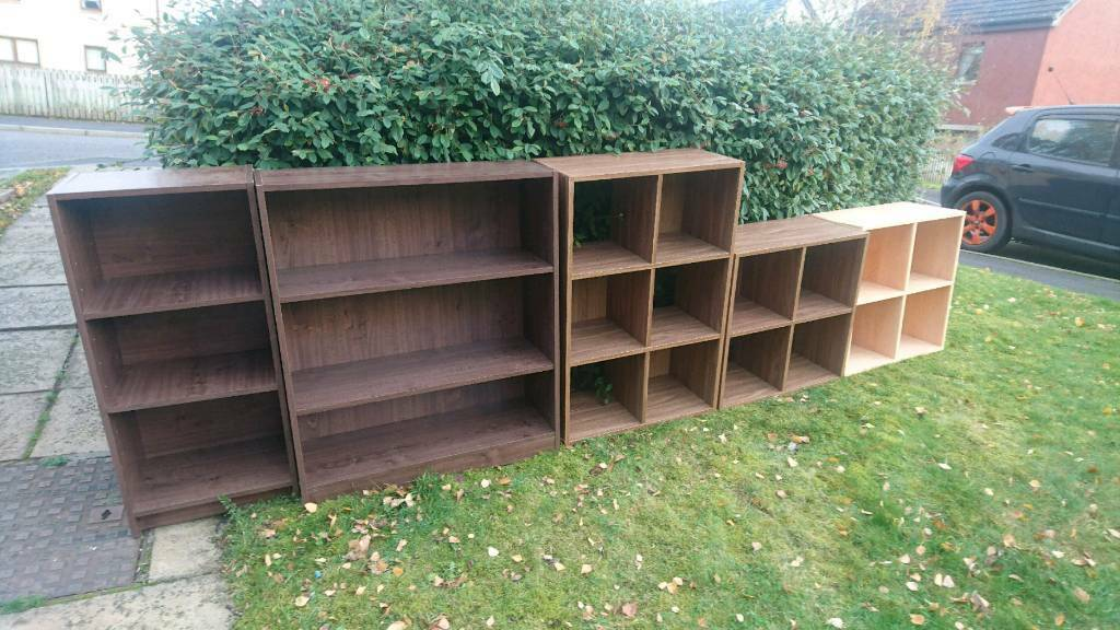 Cube, cubed storage unit and bookcase shelving units