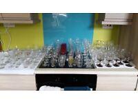 100 Vintage Different Drinking Glasses