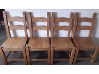 Oak Chairs x 4
