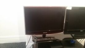 small tv 22 inch him freeview with remote