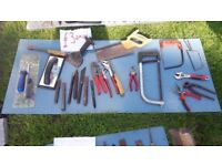 **HAND TOOLS**£3 EACH**HAMMERS**BOLSTERS**LEVELS**SPANNERS**PLIERS**ETC**SCREWDRIVERS**