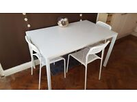 Used Very Good Condition IKEA Dining Table with Chairs