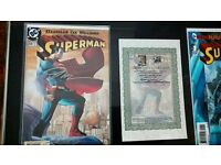 Superman comic signed by artists