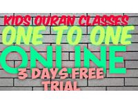 Quran classes for children and adults one 3 days free trial . O e to one class. Just whatsap me