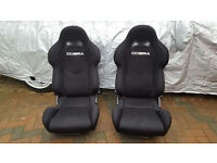 COBRA LIGHTWEIGHT BUCKET SEATS * NEW CONDITION * VERY LIGHT * + PERFECT FOR ANY CAR + BMW/AUDI/VW/