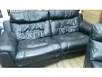 cinema style electric leather recliners with drinks compartment