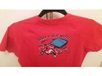 Edelrid rock-climbing pink T-shirt BNWOT