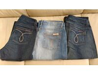 Three pairs of Calvin Klein Jeans Womens Size 12