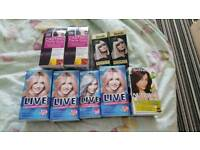Job lot of hair dyes new.