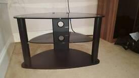 Black shiny TV stand