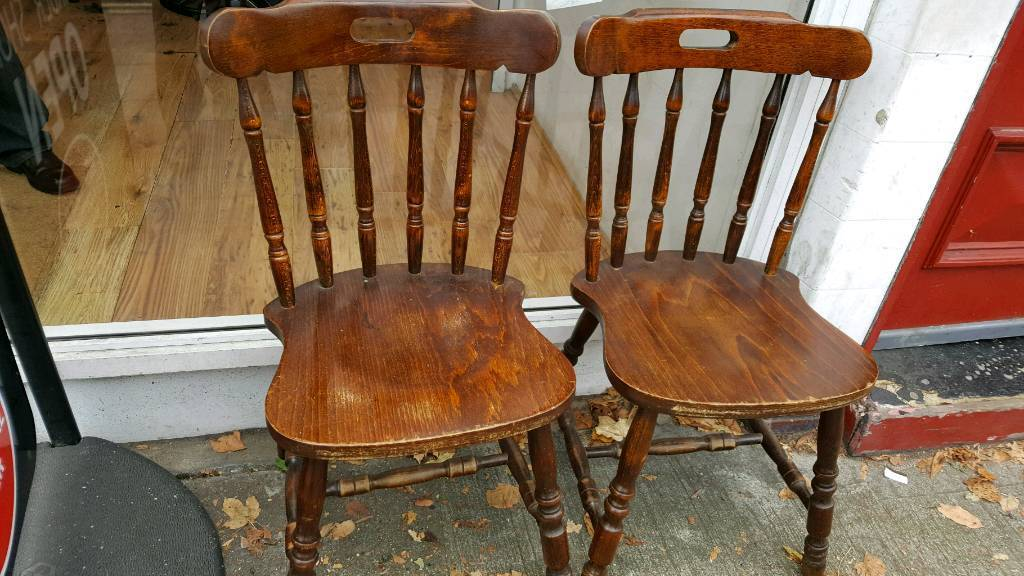 Set of 6 chairs- solid wood