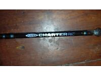 Fladen Charter Boat Rod 195cm with a Classic 5.5; centre pin reel