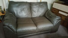 3 + 2 real leather. Very good condition