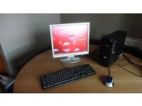 Packard Bell PC and Monitor Desktop PC