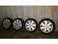 Vauxhall Corsa Alloy Wheels And Tyres 185/55/R15