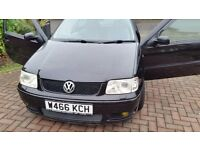Vw polo, I year mot, central lock remote control key, great drive cd player service history