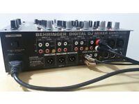 Behringer DDM4000 digital 4 channel DJ mixer with Infinium X1 optical crossfader