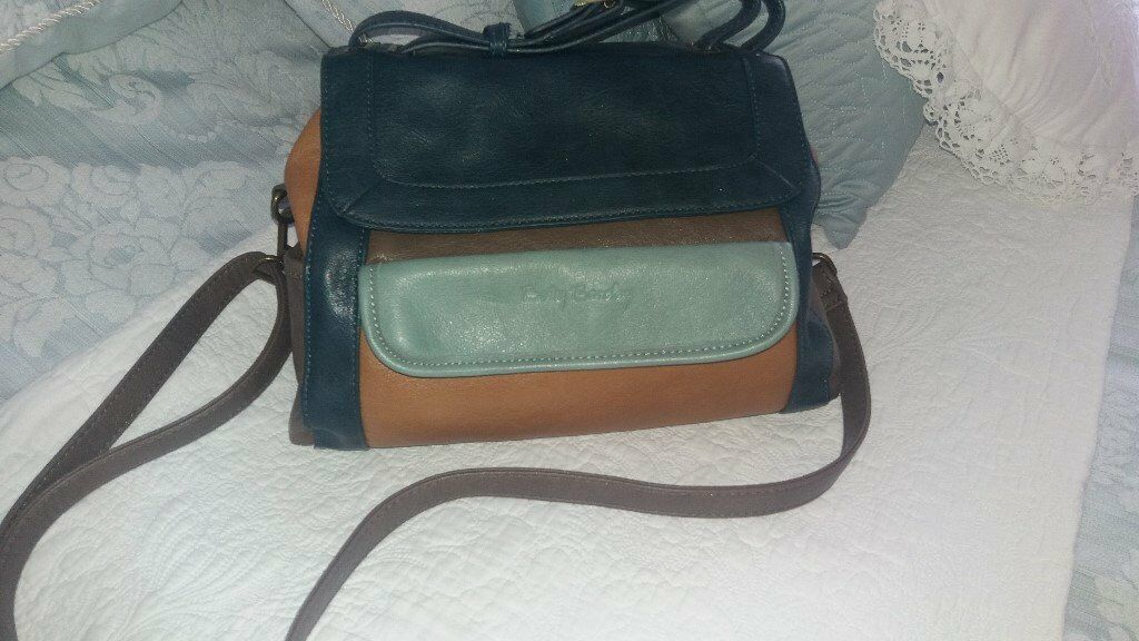 096e2d2a743e multi colour leather Betty Barclay hand shoulder bag excellent condition