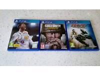 Playstation 4 games fifa 18 call of duty ww2 and MX vs atv ps4