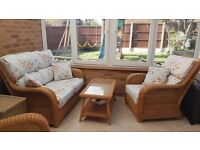 Conservatory Sofa, two chairs and table
