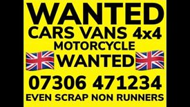 📞 WE BUY ALL CARS VANS JEEPS COLLECT TODAY SELL MY SCRAP WANTED FAST COLLECTION