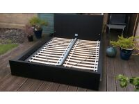 IKEA Double Bed Base and Wooden Slats in Excellent Condition