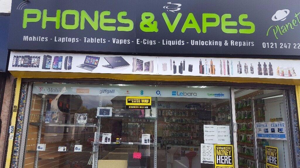 PHONES & E CIGARETTE SHOP FOR SALE