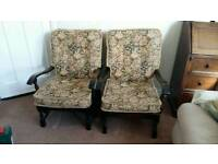 Pair of Ercol style Arm Chairs