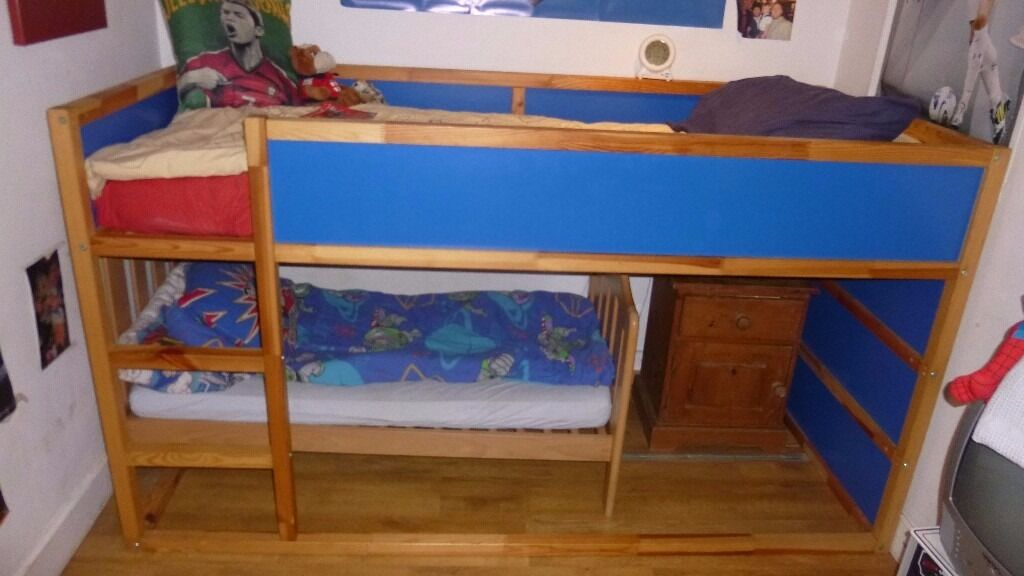 Ikea Kura Bunk Bed And Mamas And Papas Cot Bed