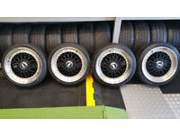 BBS 17 alloy wheels + 4 x tyres 205 40 17 PCD 4 x 108 Ford,Citroen,Peugeot,..