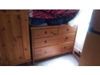 beech chest of drawers £10