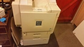 A3/A4 COLOUR LASER PRINTER WITH WHEELS AND WORKING RICOH AFICIO AP3800C