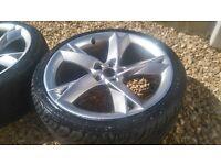"""18"""" Audi A5 style Alloy Wheels - 5x110 5x112 *fits VW Golf, Astra A3*"""
