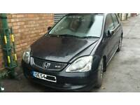 Honda civic 54 reg breaking in black